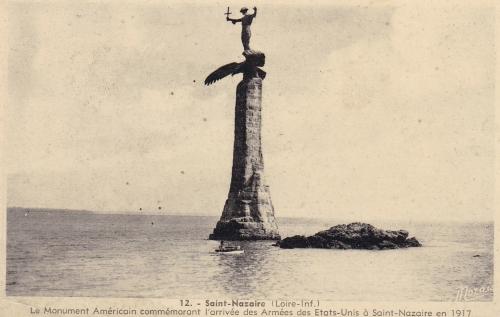 Gertrude Vanderbilt Whitney, monument, saint nazaire